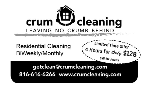 Crum Cleaning: 4hrs $128